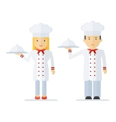 Profession chef cooking man woman vector