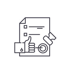 quality control system line icon concept quality vector image