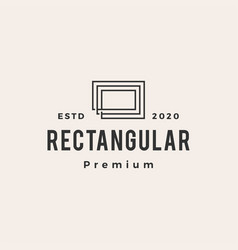 rectangle rectangular line outline hipster vector image
