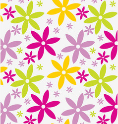 Retro geometric flowers pattern 08 vector