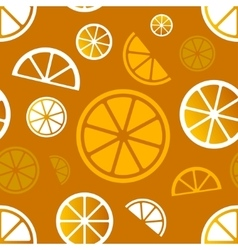 Seamless citrus pattern Eps10 vector