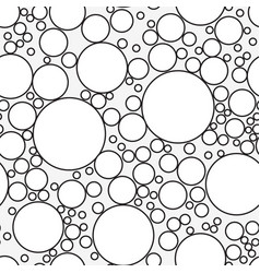 seamless pattern with soap bubbles isolated on vector image