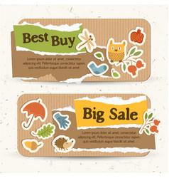 seasonal sale horizontal banners vector image