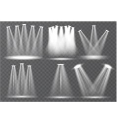 Set scene illumination transparent effects vector