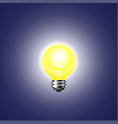 shining light bulb on a dark background vector image
