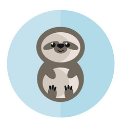 Sloth a slow-moving animal generally hanging vector