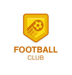 soccer football badge logo in vector image