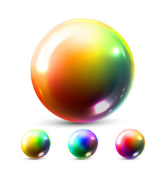 sphere ball orb shining round button vector image