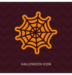 Spider web halloween silhouette icon vector