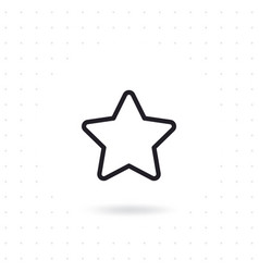 star icon in flat design vector image