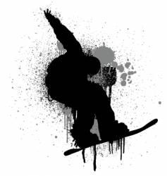 stencil snowboarder vector image