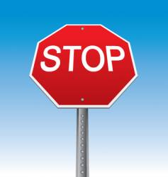 stop sign illustration vector image