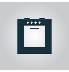 Stove icon sign and button vector
