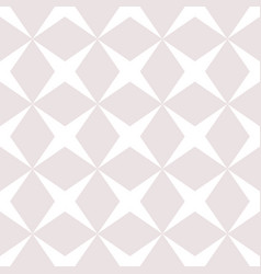 subtle seamless pattern with diamond shapes vector image