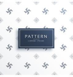 Swastik symbol minimal pattern background vector
