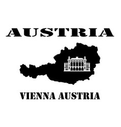 symbol of austria and map vector image
