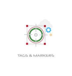 tags and markers location pointers concept line vector image