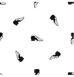 Tango shoe pattern seamless black vector