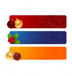 three horizontal banners vector image