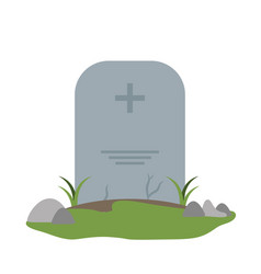 Tombstone cemetery isolated vector