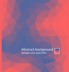 triangles background vector image