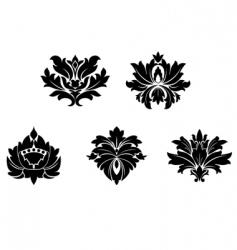vintage flower patterns vector image