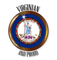 Virginia proud flag button vector