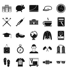 Waste of time icons set simple style vector