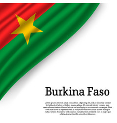 waving flag of burkina faso vector image