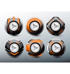 Web orange buttons vector