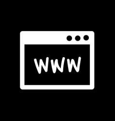 website browser icon design vector image