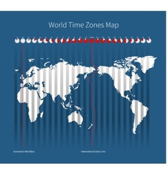 World Time Zones Map vector image