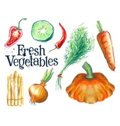 gardening logo design template fresh food vector image vector image