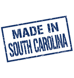 made in south carolina stamp vector image vector image
