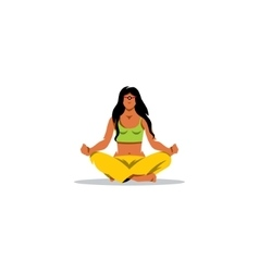 Meditation sign Beautiful girl in a lotus vector image