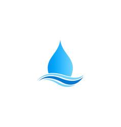 water drop abstract bio logo vector image vector image