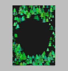 green abstract random seasonal pine tree card vector image