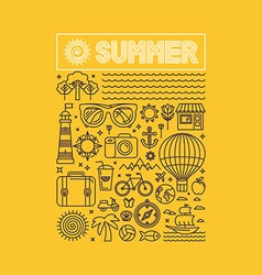summer and vacation poster vector image vector image