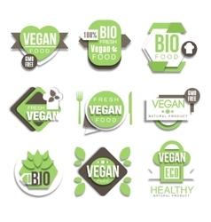 Bio Natural Vegan Product Logo Collection vector image vector image