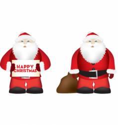 fat santa vector image vector image