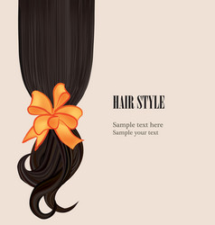 hair style beauty salon poster with curly black vector image vector image