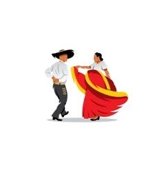 Mexico Dancers Participates at the Cinco De Mayo vector image