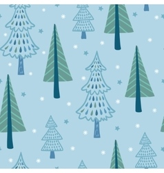 Seamless with winter vector image vector image