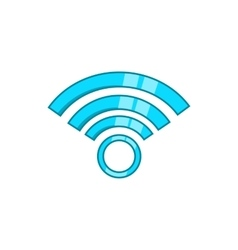 Wireless network symbol icon cartoon style vector image