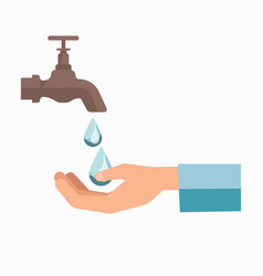charity symbol of water scarcity for people vector image vector image