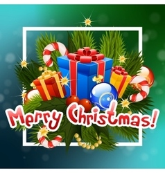 Christmas Greeting Card Lettering vector image vector image