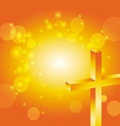 easter jesus cross background 4 vector image