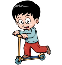 Little boy skateboarding vector image vector image