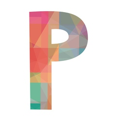 P alphabet2 vector image