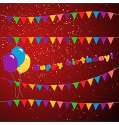 Set happy birthday vector image vector image